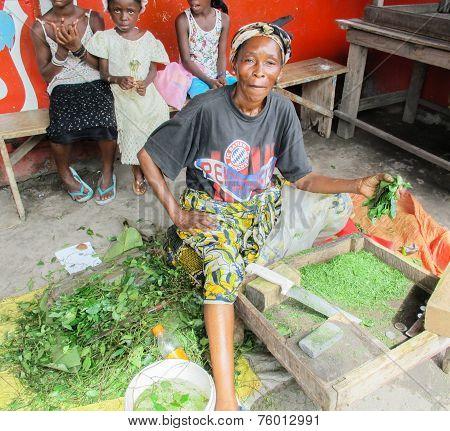 Street Vendors In Brazzaville, Capital Of Republic Of Congo In