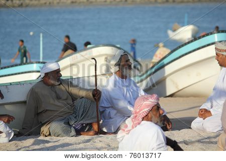 Fishermen Take Refuge From The Sun