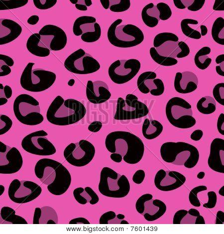 Seamless pink leopard texture pattern