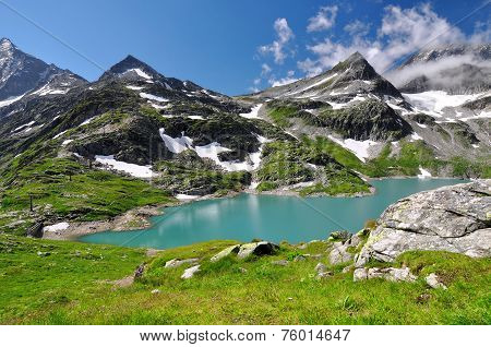 White Lake in National park Hohe Tauern