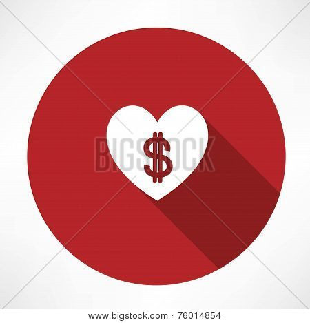 Money heart icon