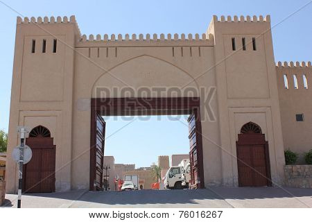 Nizwa Fort Castle entrance gate