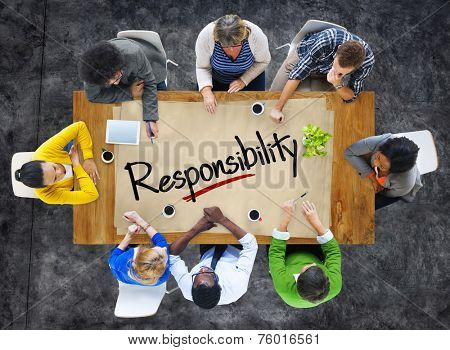 People in a Meeting and Responsibility Concept