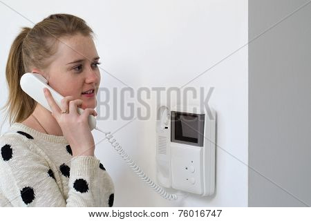 Girl With Intercom