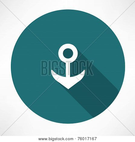 Vector Anchor symbol on gray background
