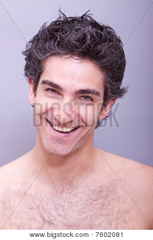 Headshot Of A Young Guy Laughing