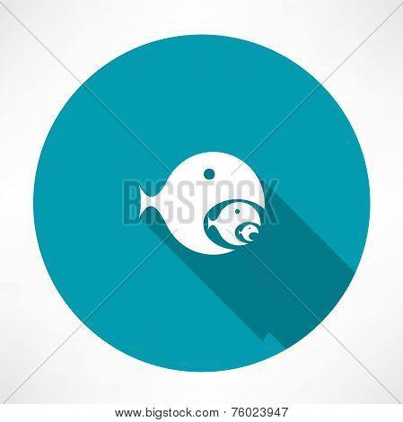 fish-eating fish icon