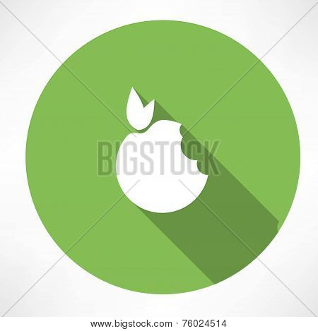 Bitten Apple Green icon