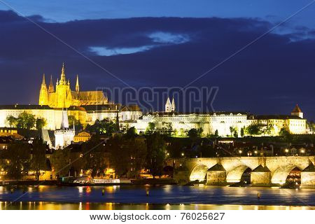 Prague Night Cityscape