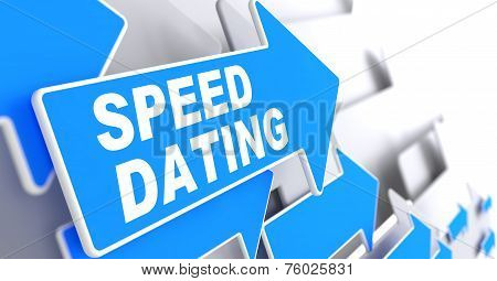Speed Dating on Direction Arrow Sign.