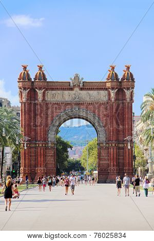 Triumphal arch in Barcelona