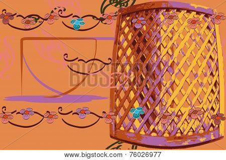 Arbour Postcard Background Texture Congratulate Garden Vector