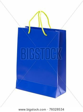Bag as a gift. Paper bag on white background.