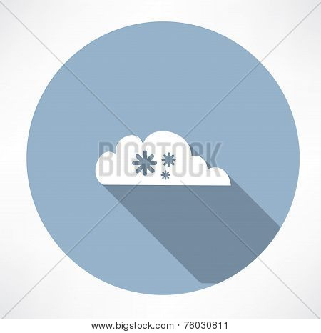 cloud with snowfall icon
