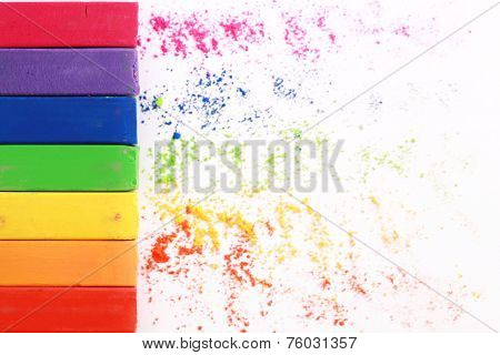 Colorful pastel chalks. Education, arts,creative, back to school background