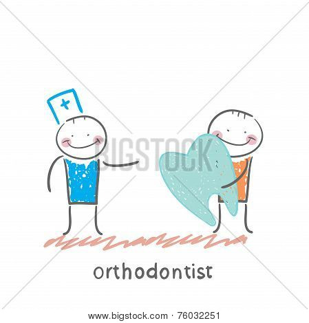 orthodontist patient receives a bad tooth