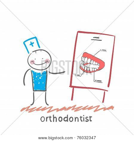 orthodontist tells presentation about teeth
