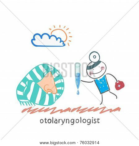 otolaryngologist offers nasal drops