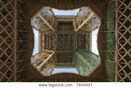 Eiffel Tower From Directly Below