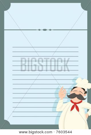 Restaurant Menu Template with a funny chef