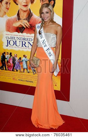 NEW YORK-AUG 4: Beauty queen Kandice Pelletier attends