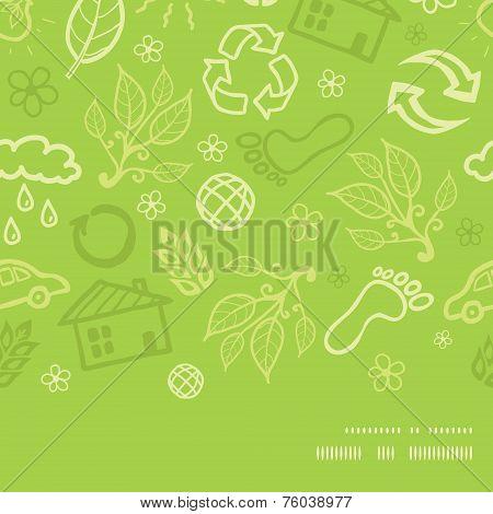 Vector environmental horizontal frame seamless pattern background