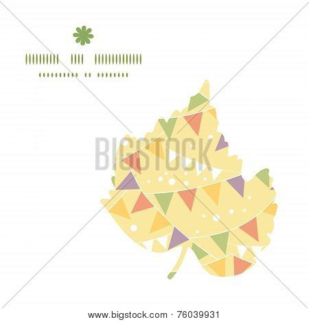Vector party decorations bunting leaf silhouette pattern frame