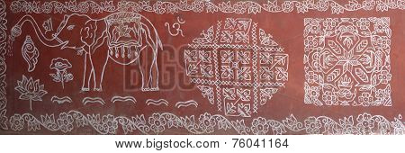 Tribal Patterns Decorate The Walls Of Houses