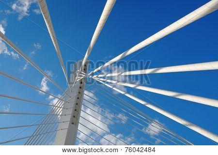 abstract detail Millennium Bridge in Podgorica, Montenegro