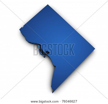 Map Of Washington Dc 3D Shape