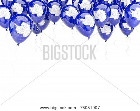 Balloon Frame With Flag Of Antarctica