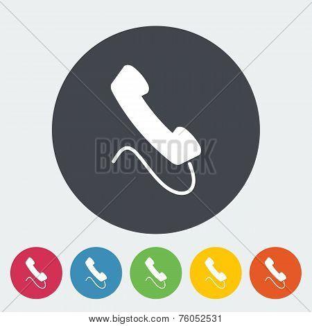 Phone single flat icon.