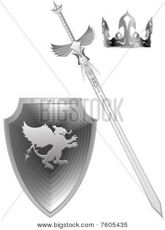Knightly fantasy sword