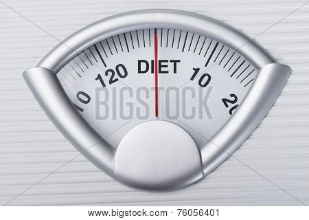 Weight Scale Indicating Diet