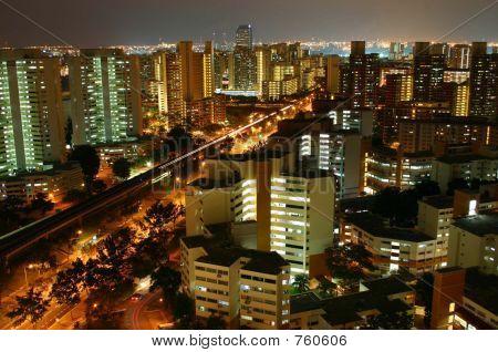 Urban City Lights at night