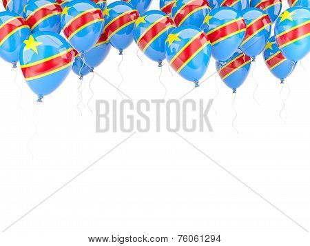Balloon Frame With Flag Of Democratic Republic Of The Congo