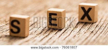 Toy bricks on the table