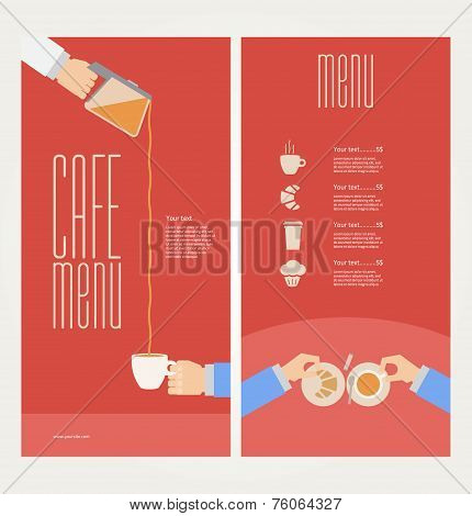 Vector modern colorful menu