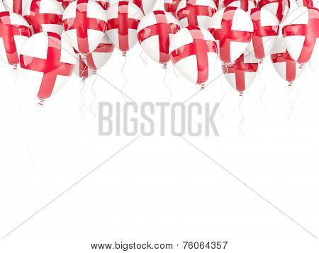 Balloon Frame With Flag Of England