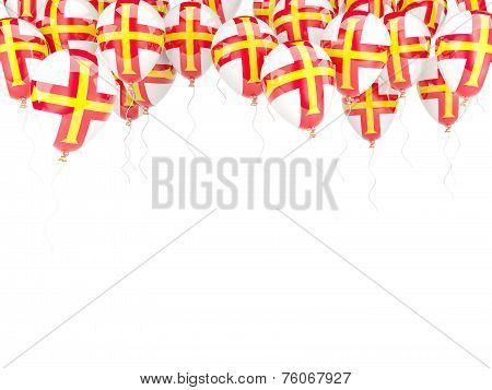 Balloon Frame With Flag Of Guernsey