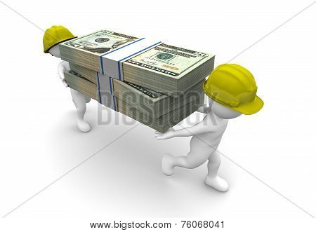 Workers Carrying Money