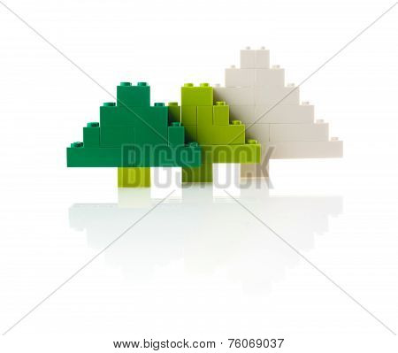 Christmas tree made from design, white background