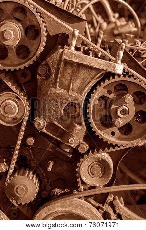 Background of old engine