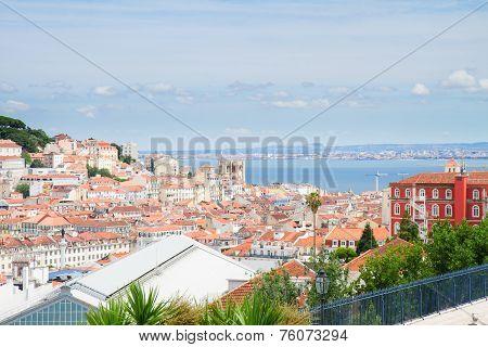 skyline of  Lisbon, Portugal