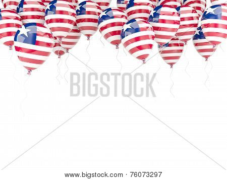 Balloon Frame With Flag Of Liberia
