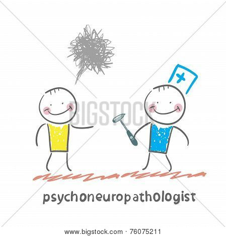 psychoneuropathologist  stands next to a distraught patient
