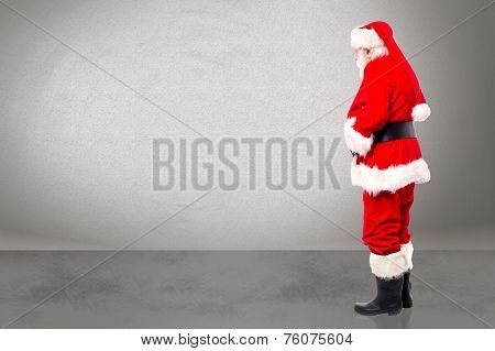 Side View Santa Claus Standing