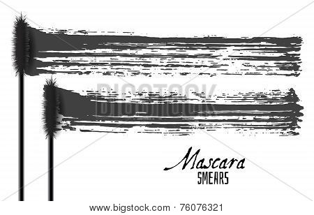Mascara Brush Strokes, Beauty Makeup Vector