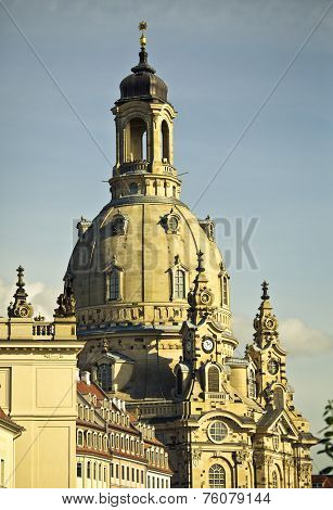the dome of the frauenkirche in Dresden