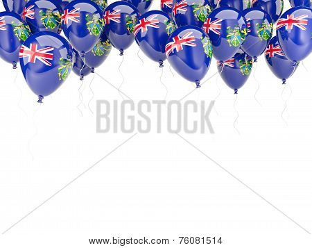 Balloon Frame With Flag Of Pitcairn Islands